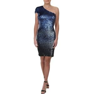 Dress The Population Navy Ombre Sequin Dress